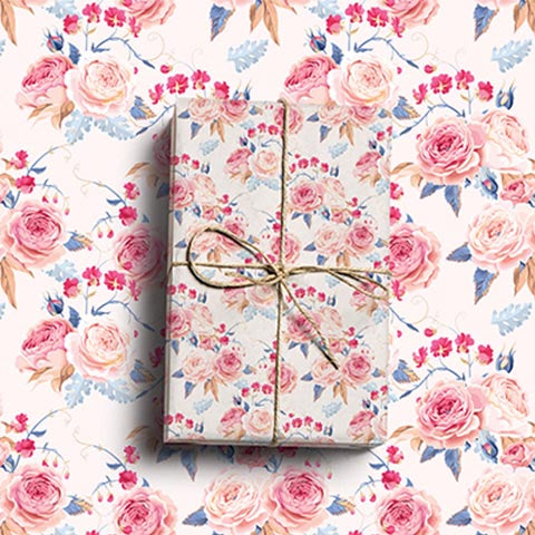 Rose vintage wrapping paper