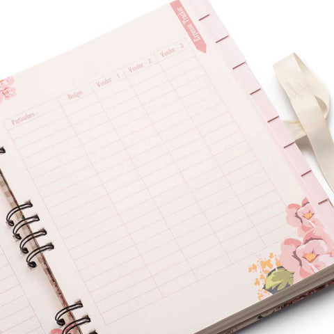 Stationery: Wedding planner will help every stylish bride keep on top of her budget, guest list, appointments, and to do lists.