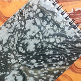 Snowy Hand Marbled Notepad