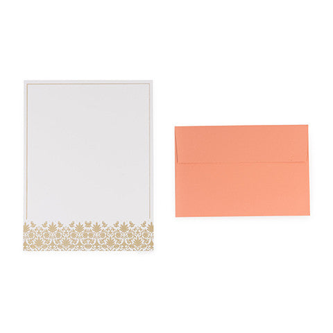 Gold And Peach Letter Sheets