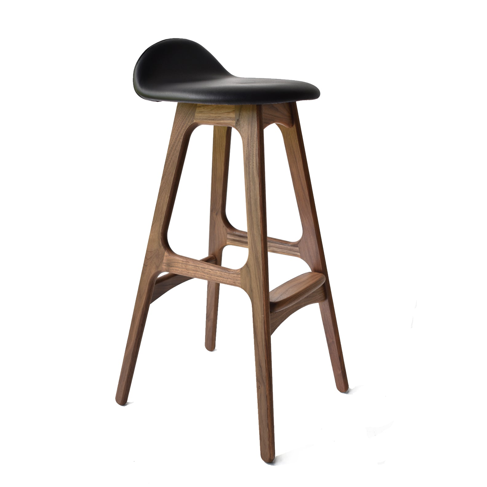 Elegant Dark Walnut Bar Stools
