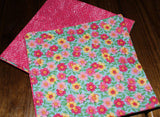 Handmade Shabby Chic Reversible Cloth Napkins