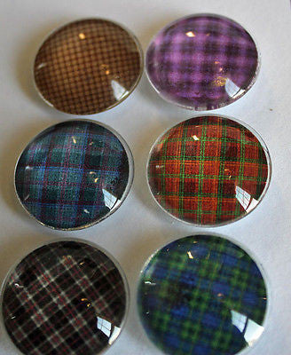 Flannel Plaid Glass Gem Super Strong Magnets
