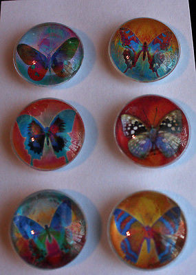Mod Butterflies Glass Gem Magnets