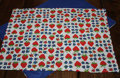 Handmade Retro Strawberry Placemats