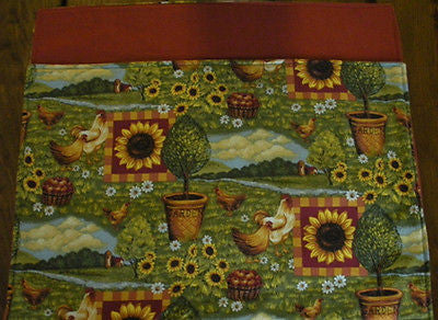 Handmade Sunflowers and Chickens Placemats