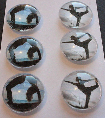 It's All About Yoga Glass Gem Super Strong Magnets