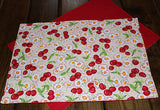 Handmade Cherries and Daisies Placemats