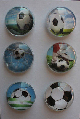 Soccer Glass Gem Super Strong Magnets