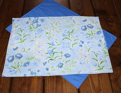 Handmade Blue Wildflower Placemats