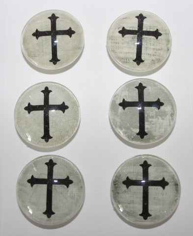 Georgous Religious Cross Glass Gem Super Strong Magnets