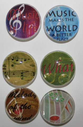 Music Lovers Glass Gem Super Strong Magnets