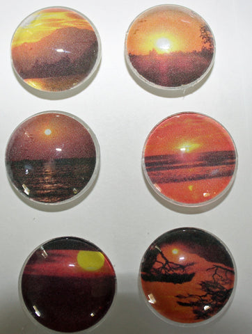 Sunsets Glass Gem Super Strong Magnets