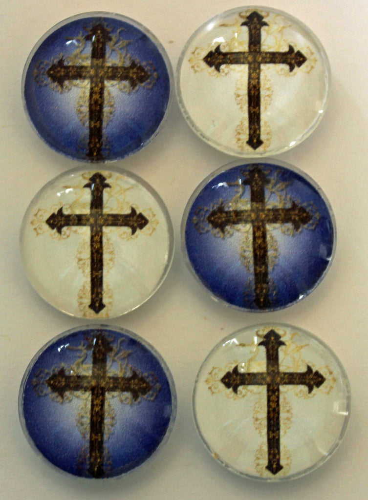 At the Cross Glass Gem Super Strong Magnets