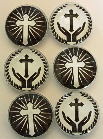 Christian Cross Glass Gem Super Strong Magnets