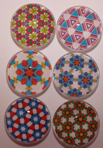 Kaleidoscope Glass Gem Super Strong Magnets