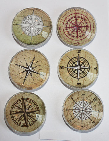 Compass Glass Gem Super Strong Magnets