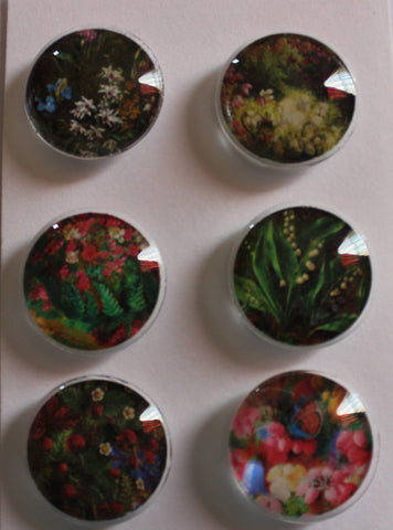 Garden Wildflowers Glass Gem Super Strong Magnets