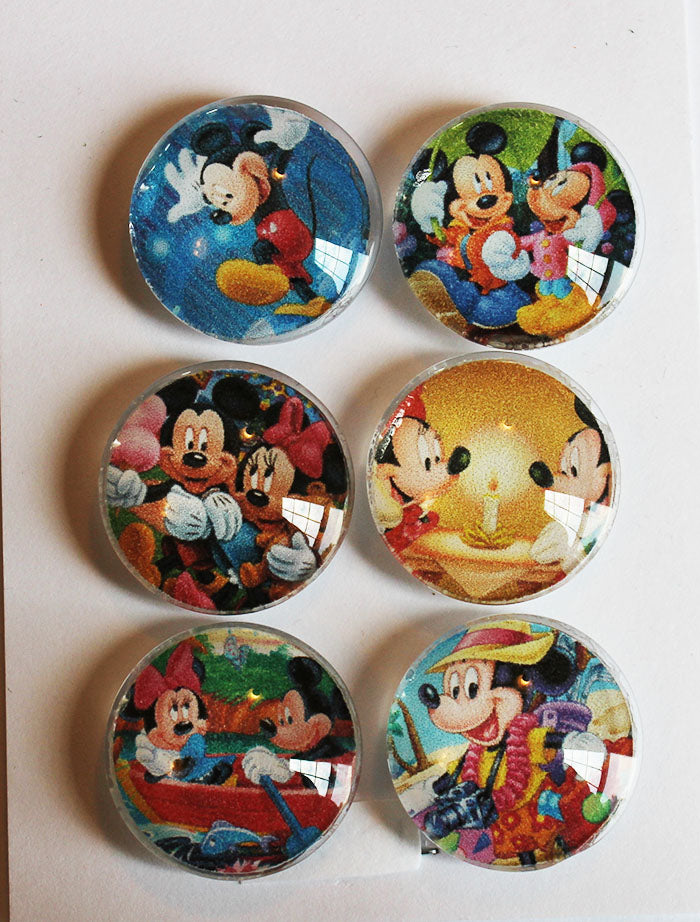 Mickey and Friends Glass Gem Super Strong Magnets
