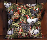 Country Chickens Removable Decorative Throw Pillow Cover