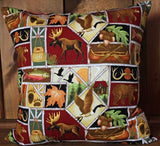 Hunting and Fishing Cotton Throw Pillow Cover