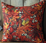 Falling Leaves Cotton Throw Pillow Cover