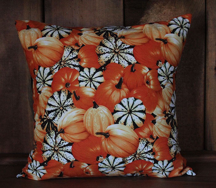 Fall Pumpkins Cotton Throw Pillow Cover