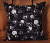 Halloween Spooky Cotton Throw Pillow Cover