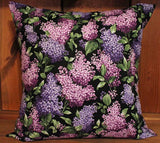 Beautiful Lilacs Cotton Throw Pillow Cover