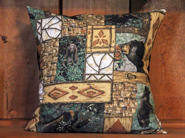 Woodland Bears Removable Decorative Throw Pillow Cover Country Magnificent Country Throw Pillows Decorative