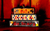 Eat Drink and Be Scary Halloween Wood Word Block