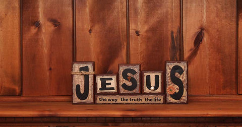 Jesus The Way The Truth The Life Word Block