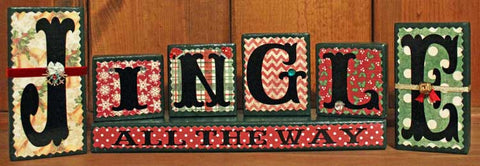 Jingle All The Way Wood Word Block