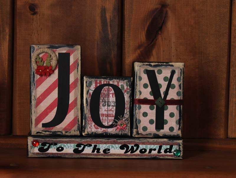 Joy To The World Word Block