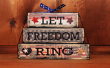 Let Freedom Ring Patriotic Word Block