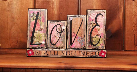 Love Is All You Need Word Block