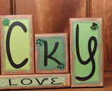 Lucky In Love Word Block