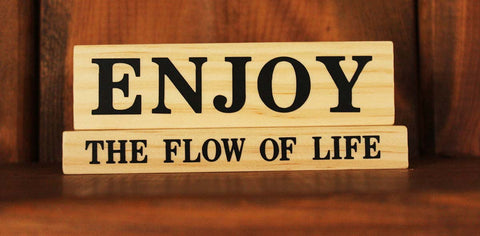 Enjoy The Moment Wood Word Block