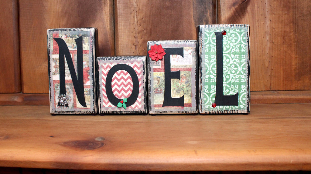 Noel Christmas Word Block