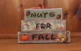 Nuts for Fall Wood Word Block