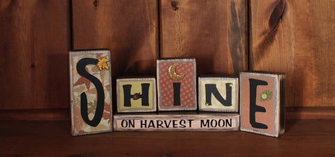 Shine On Harvest Moon Fall Word Block
