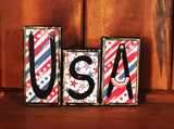 USA Wood Word Block