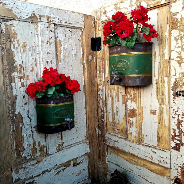 Added Privacy in the Garden & Hanging Container Garden Ideas