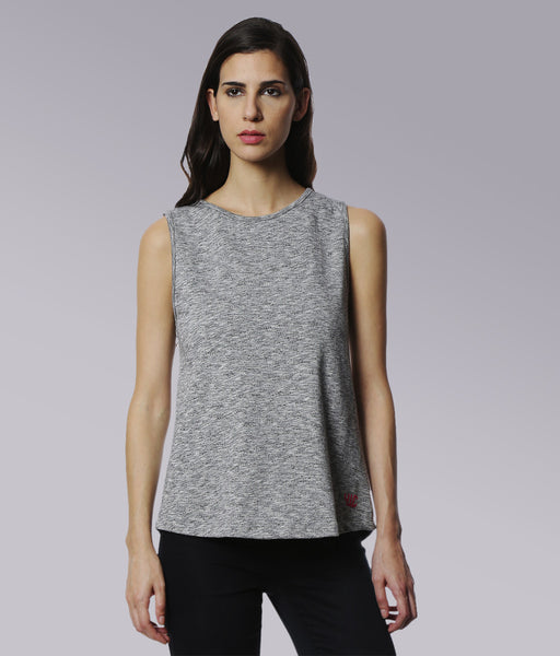 YWC Chic sleeveless A line top with back slit