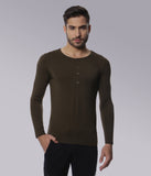 YWC Super-fine Stretch Modal Green Henley