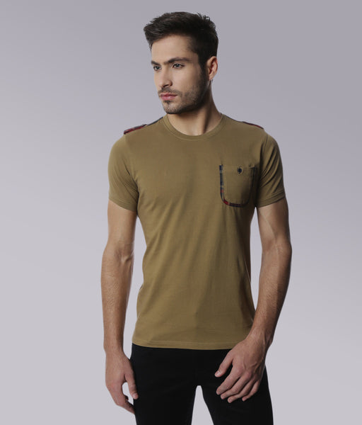 YWC Contrast Panel T-shirt