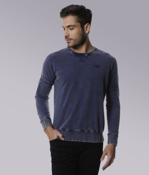 YWC Luxe Knit Vintage Navy Sweatshirt
