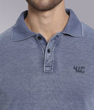 YWC Vintage Polo T-shirt - NAVY