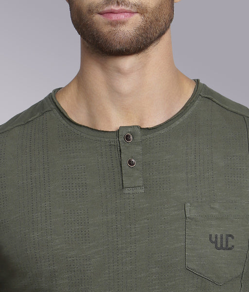 YWC 'Raw Panel' Henley