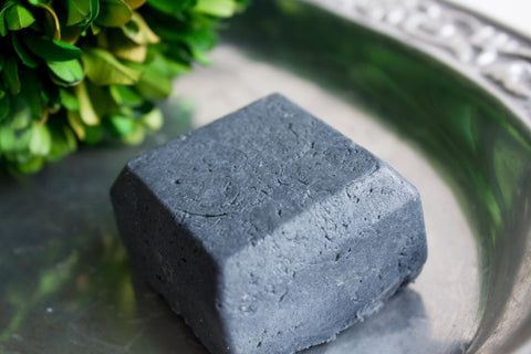Men's Handmade SAMPLE Artisan Sea Salt Soap Scrub Bar with Activated Charcoal